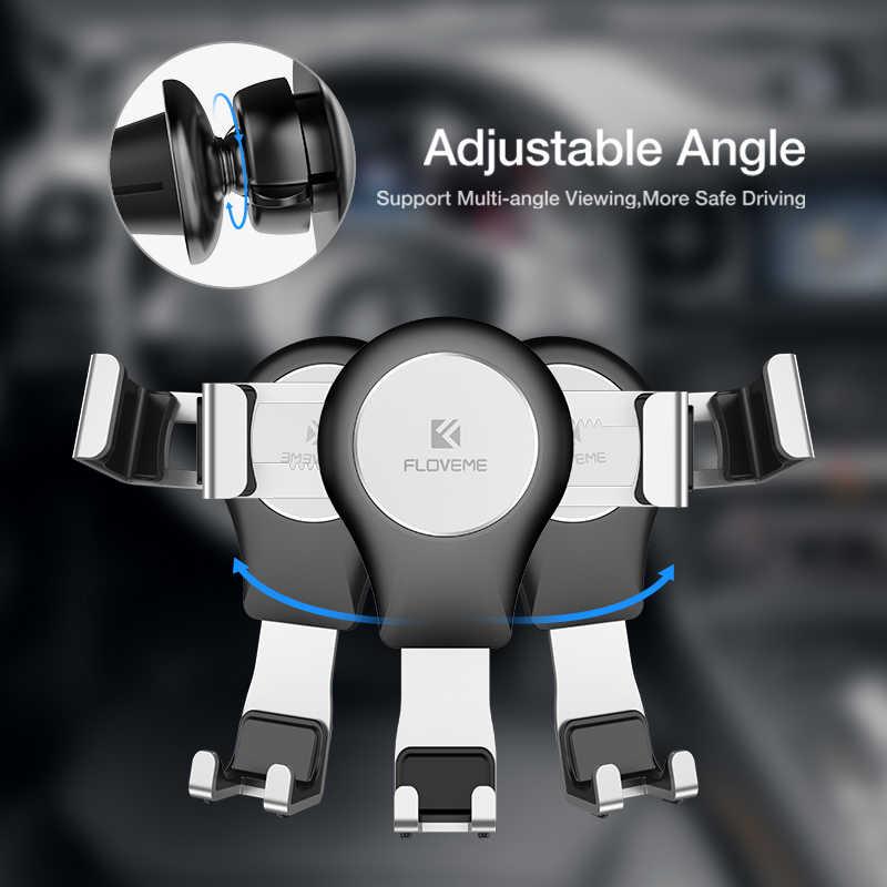 FLOVEME Gravity uchwyt samochodowy na telefon stojak na kratkę wentylacyjną na telefon w samochodzie nie namagnesowany Auto uchwyt na telefon wsparcie dla smartfonów Cell