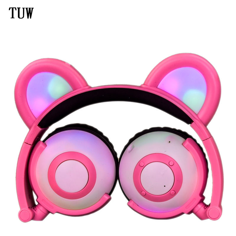 wireless bluetooth professional earphone panda ears cartoon stereo music folding headphone LX-BL09