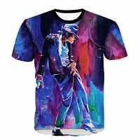 Raisevern producido para conmemorar la pintura de Michael Jackson impresión Camiseta hombres/mujeres Camiseta MJ baile Top traje