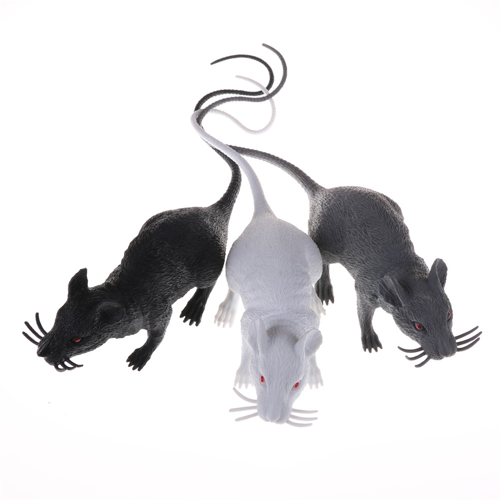 9-40cm Simulation Mouse Vivid Creepy Rat Funny Tricky Toy Halloween Party Decor