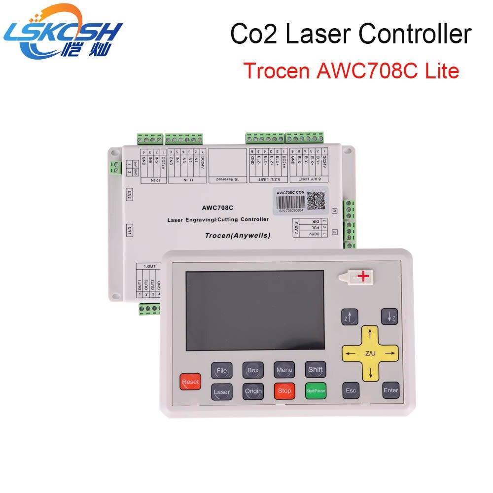 LSKCSH Лидер продаж 2018 AWC708C lite Co2 лазерная контроллер Co2 лазерной запасные части для Co2 лазерной резки оптовая продажа