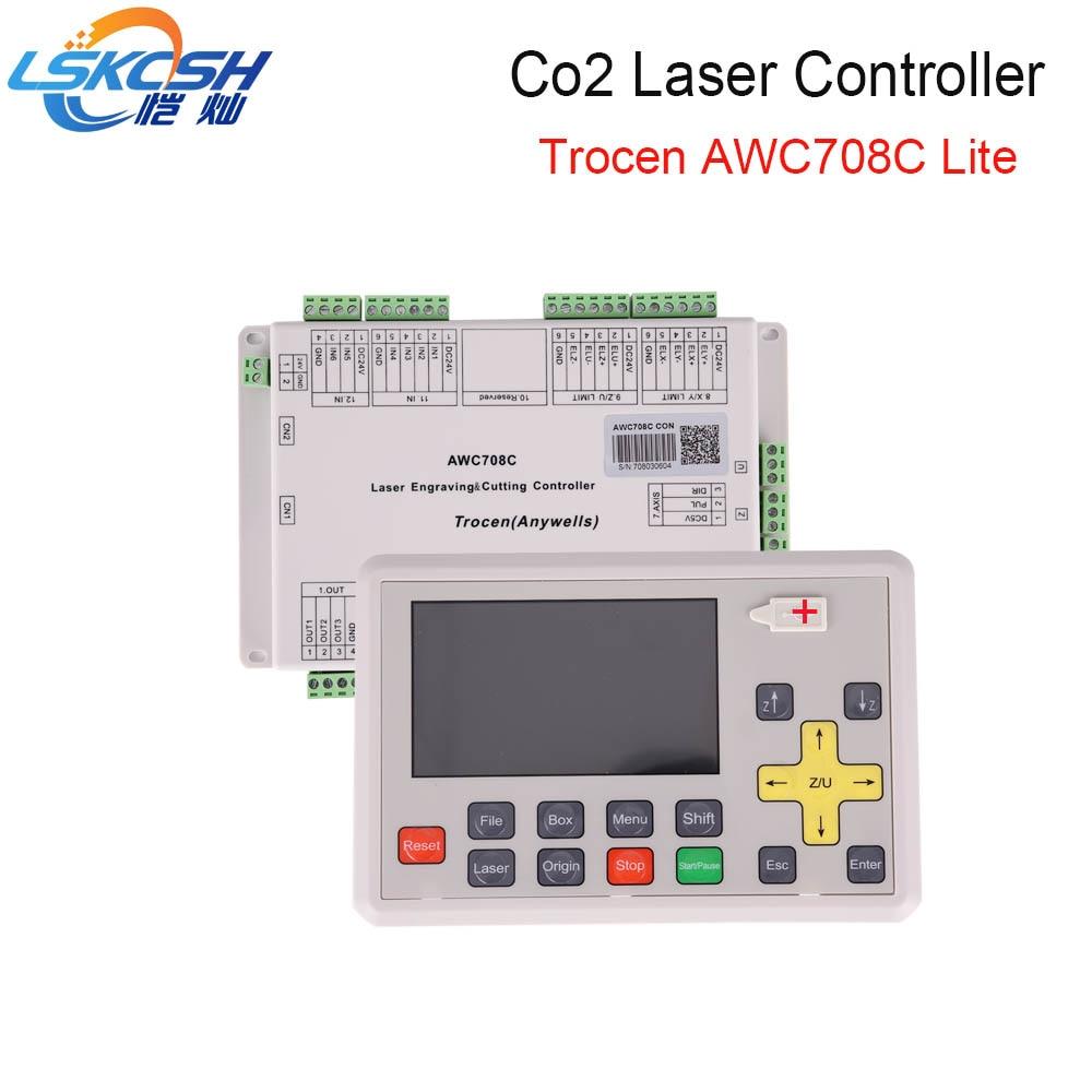 LSKCSH meilleur vendeur 2018 AWC708C lite Co2 laser contrôleur Co2 laser pièces de rechange pour Co2 Laser machines de coupe en gros
