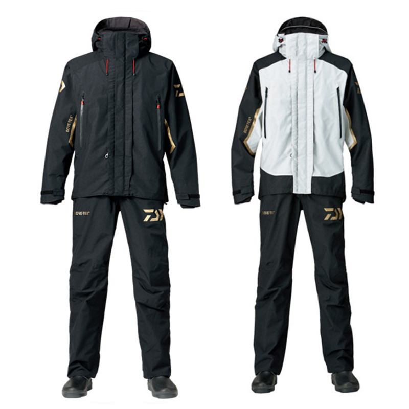 Drop Shipping Daiwa Waterproof Fishing Clothing Set Men Breathable Fishing Jacket Outdoor Sportswear Suit Fishing Shirt and Pant