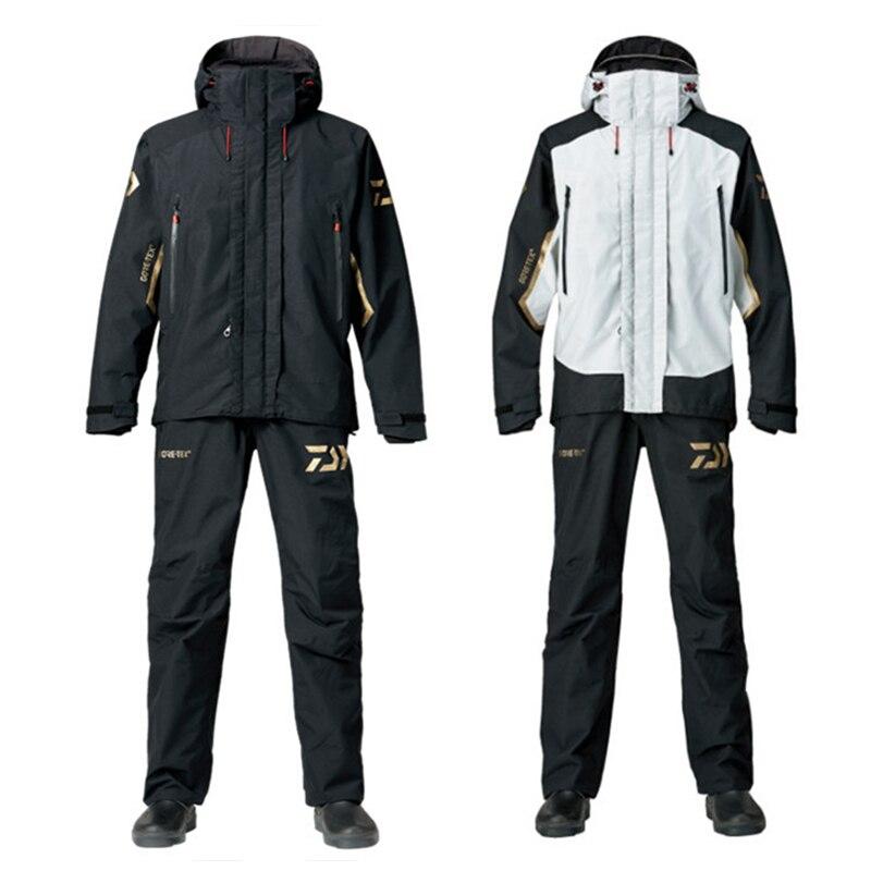 Hiver Daiwa vêtements de pêche imperméables ensembles hommes vêtements de pêche respirants tenue de ville costume chemise de pêche chaude et pantalon