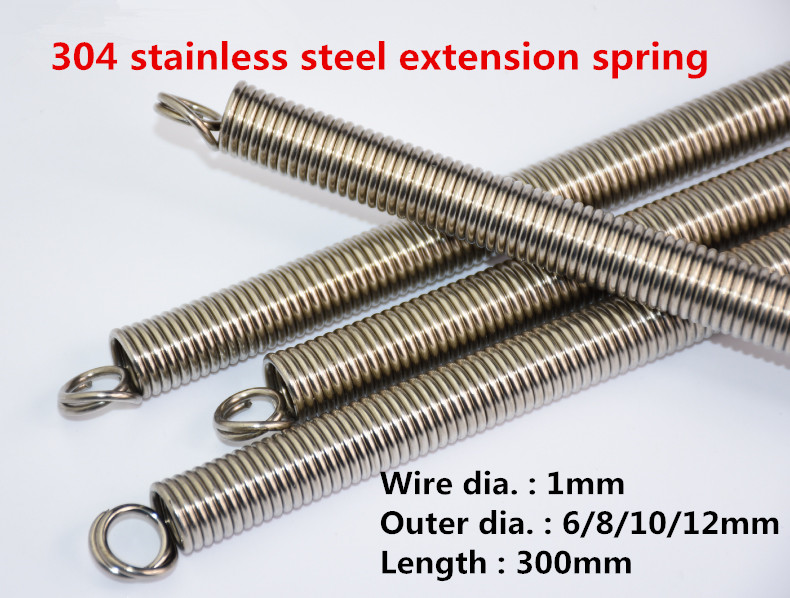 1.5mm Wire Dia Extension Springs 304 Stainless Steel 10//12//15mm Outside Dia