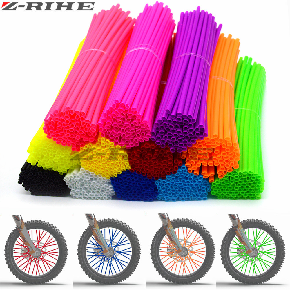 72 pcs Universal Moto Dirt Bike Enduro Off Road Wheel RIM Spoke Skins covers for KTM EXC EXCF EXC F 125 250 450 500 KAWASAKI(China)