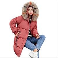 New 2019 Big Fur Collar Winter Jacket Women Parka Cotton Warm Down Parkas Hooded Coat Women Clothes Parkas Coat Plus Size CQ2652