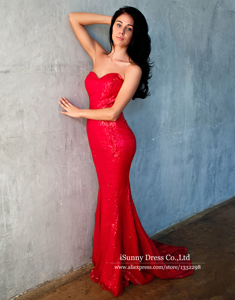 Vestidos rojos strapless – Hermosos vestidos