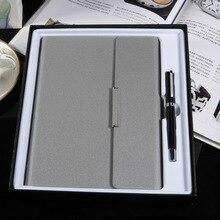 Personnalisé A5 bureau cahier à feuilles mobiles boîte cadeau cahier Signature stylo coffret cadeau daffaires Logo personnalisé cahier à spirale