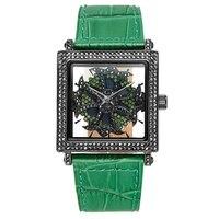 Новый черный полный часы с бриллиантами женский вращающийся кварцевые часы женщина платье часы лучший бренд класса люкс Дамская Мода Табли