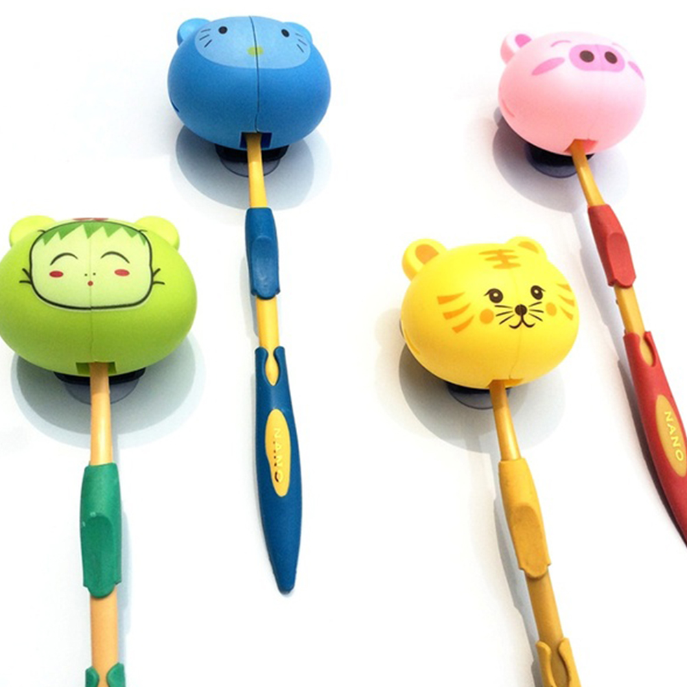 HOT Animal Cute Cartoon Suction Cup Toothbrush Holder