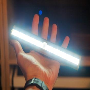 Motion Sensor LED Night Light 10LED Detector Wireless LED Closet Lights Table Lamp Cabinet Bookcase Light for Kichen Bedroom