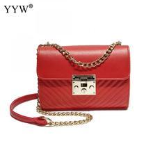 Yyw nuevo estilo europeo y americano pu mujeres de cuero bolso crossbody cadena diseñador de la marca por la noche para niña bolsos