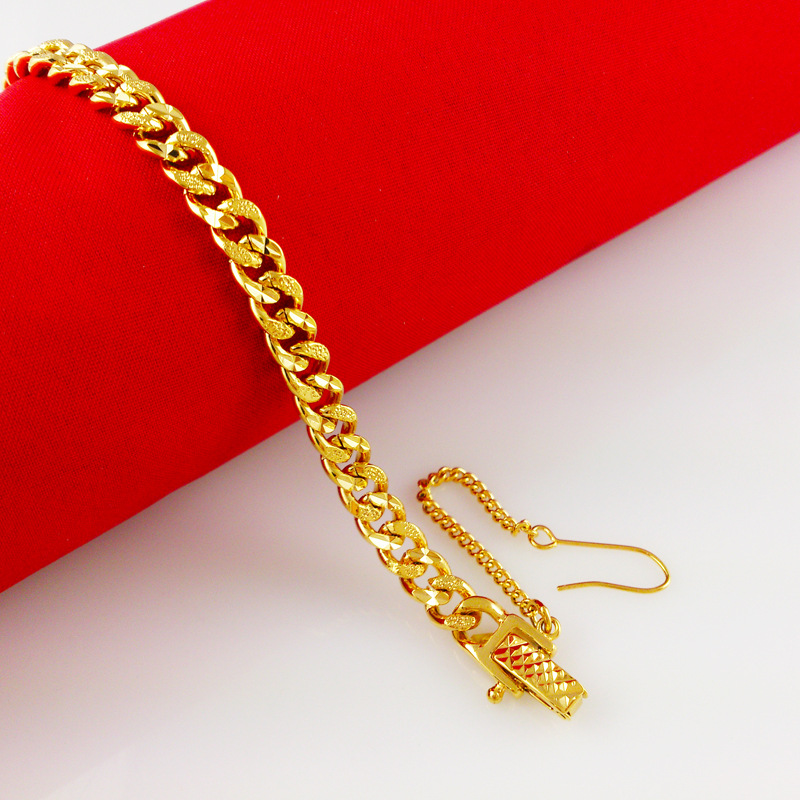 6mm wide thin watch band chain bracelet for women yellow ...