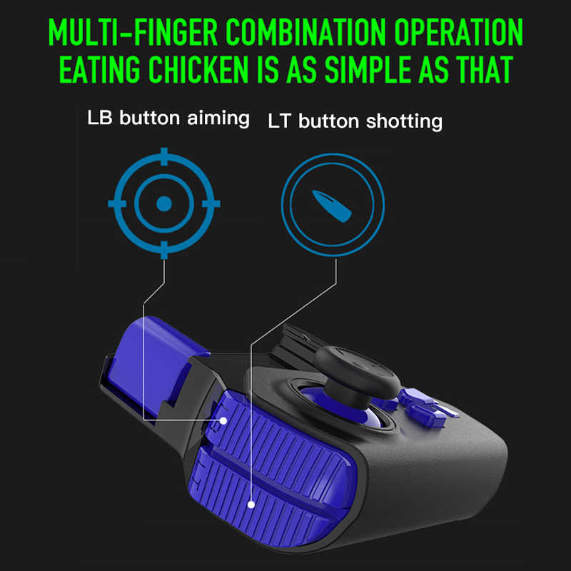 PUBG Controllers Goystick Bluetooth Single Hand PUBG Mobile Gamepad Wireless Portable Game Controller for iPhone Android Phone