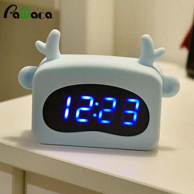 Bedside Electric Alarm Clock Time Temperature Display Digital LED ...
