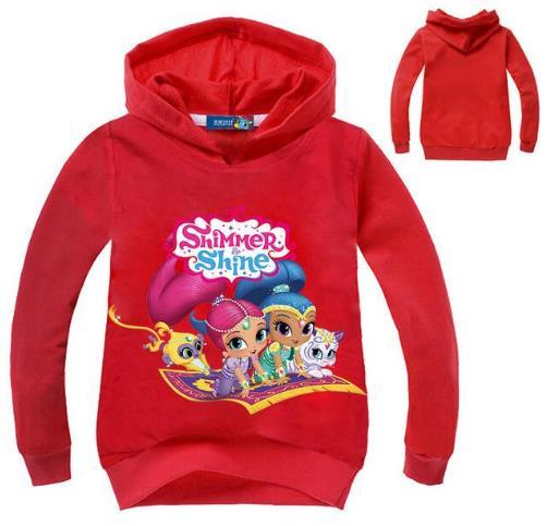 Clothing Sweatshirt Girls Hooded Modis Kids Children Casual 3D Streetwear Shimmer Game
