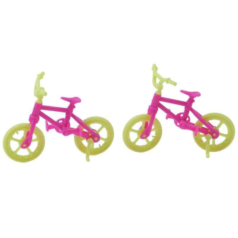 2 шт DIY мини-кукла ручной работы, велосипед, аксессуары, модная пластиковая подарочная игрушка, кукла для девочки, рождественский подарок для ребенка, игровой домик, игрушка