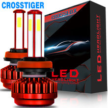 4 Side lamp Unique Chip Spotlight H7 Led Headlight auto Car Light hb4 9006 H8 H11 hb3 9005 led bulb Red 8000Lm 6000K(China)