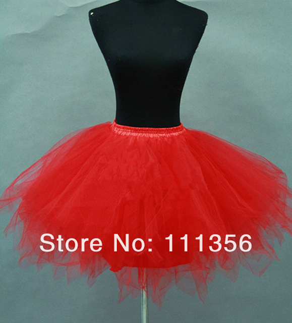 6f3e3f89793 Rood Zwart Bridal Accessoires Petticoat Meisjes Korte Tule Rok Ballet  Kleine Slip Bruiloft Rood