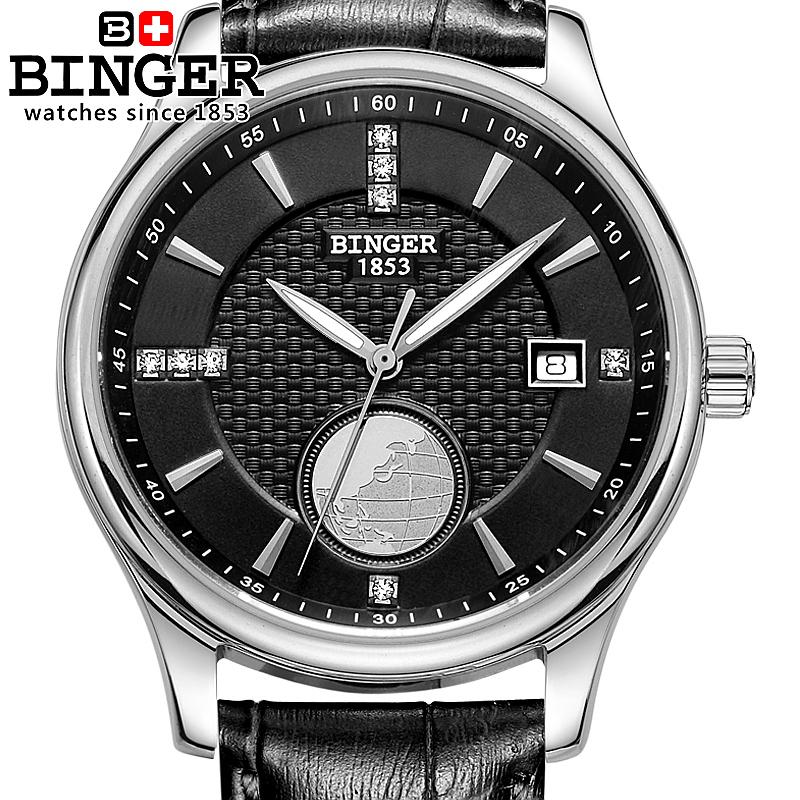 Switzerland watches men luxury brand Wristwatches BINGER Automatic self-wind Diver luminous full stainless steel watch BG-0409-2 switzerland watches men luxury brand wristwatches binger luminous automatic self wind full stainless steel waterproof b 107m 1