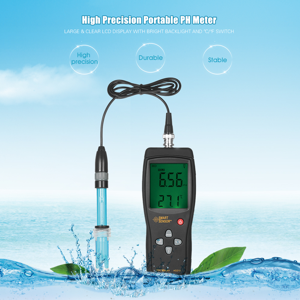 Aquarium pH Meter High Precision Acidimeter Drinking Water Quality Tester Analyzer Temperature Compensation Function Backlight g t power 130a 150a rc watt meter power analyzer digital lcd tester 12v 24v 36v high precision