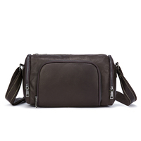 New Men Handbag Messenger Bags Crossbody for ipad Flap Hasp Mini Leather Shoulder Male s Designer