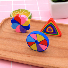 2 Pcs/lot Creativity Stationery Supplies Kawaii Cartoon Colorful Erasers office Correction Kid learning Gifts
