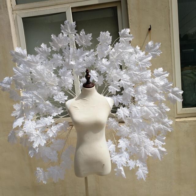 Белый кленовый лист Крылатая одежда крылья ангела перо DIY косплей реквизит Ночь Необычные платья Костюм Хэллоуин событие поставки