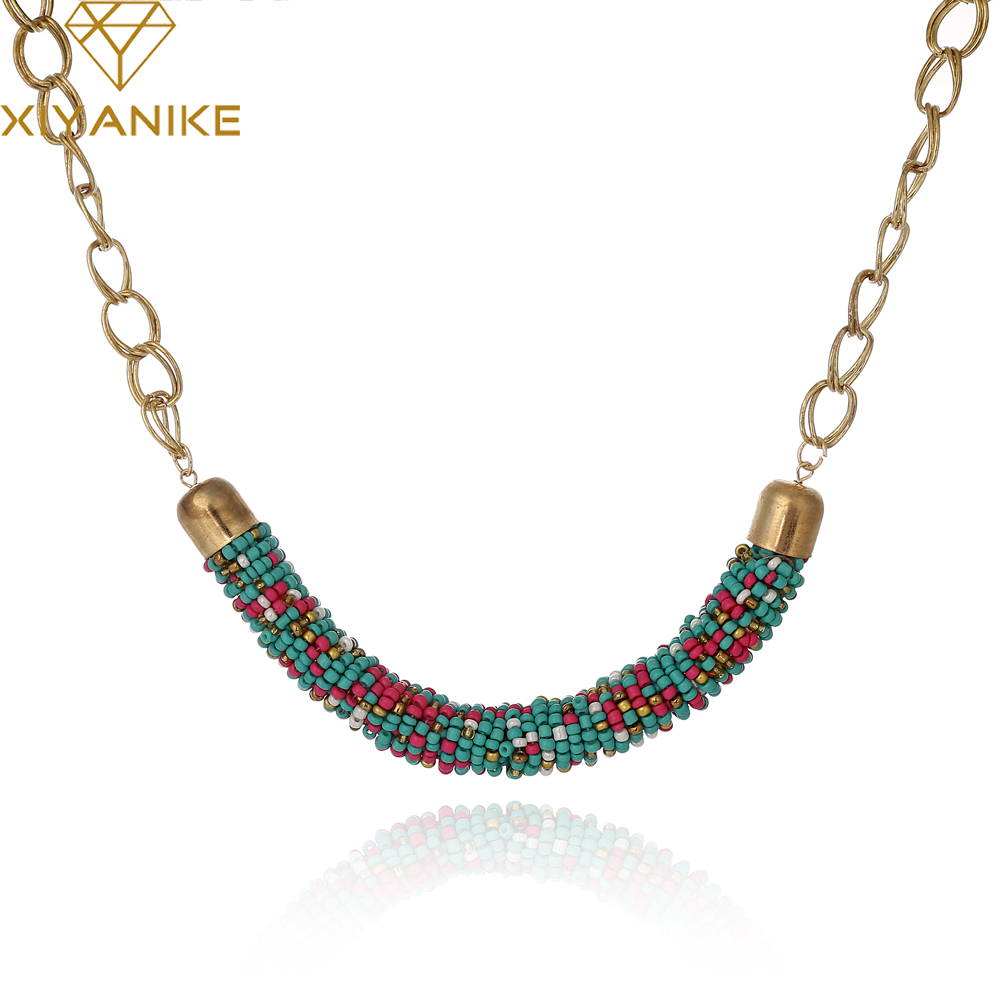 Wholesale Choker Vintage Jewerly Bead Necklaces & Pendants Fashion Colar Exaggerated Statement Necklace For Women N687 Ожерелье