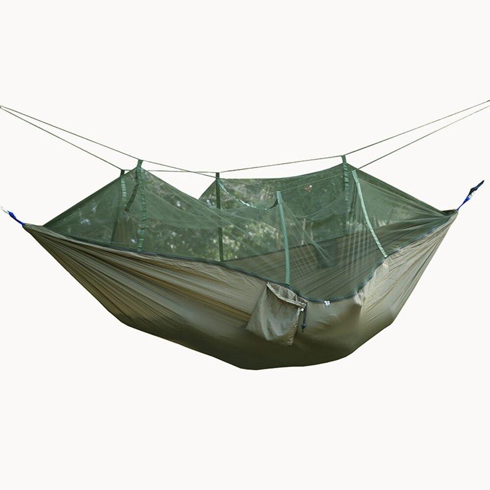 Parachute en plein air tissu hamac moustiquaire super portable camping tente tente de camping vert fauteuil Suspendu Hamac chaise Balançoire