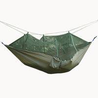 Outdoor Parachute Cloth Hammock Mosquito Net Super Portable Camping Tent Green Camping Tent