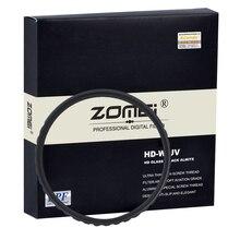 Zomei U HD-W UV Фильтр 52 58 67 72 77 82 мм Водонепроницаемый Анти-нефть Против царапин Ультра тонкий Ультрафиолетовые Фильтры