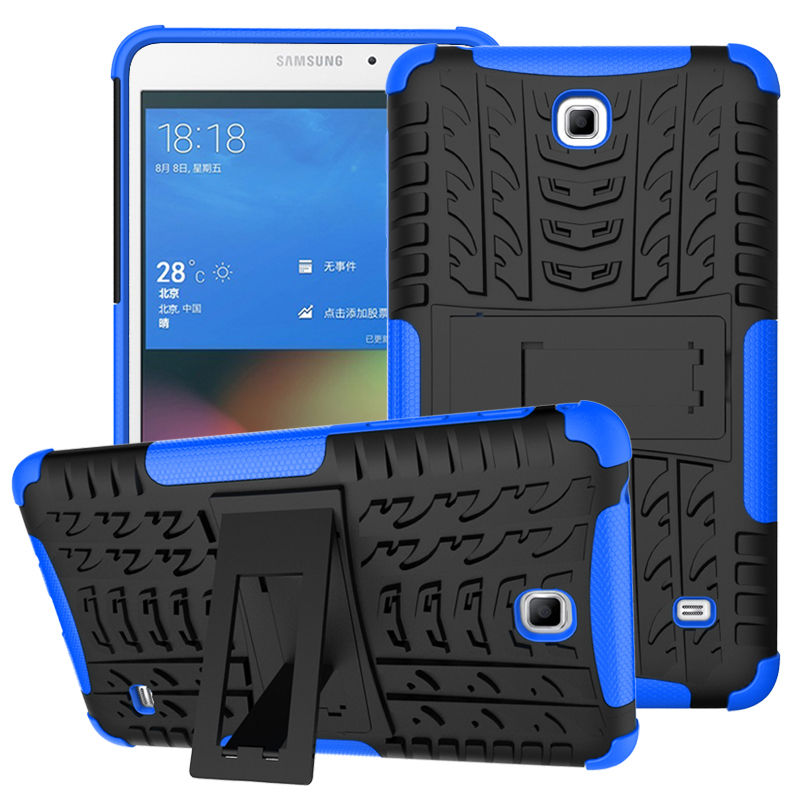 For Samsung Galaxy Tab 4 7.0 T230 T231 T235 SM-T230 7 Tablet Case Cover Silicone TPU+PC Kickstand Dual Armor Back CoverS Cases tire style tough rugged dual layer hybrid hard kickstand duty armor case for samsung galaxy tab a 10 1 2016 t580 tablet cover