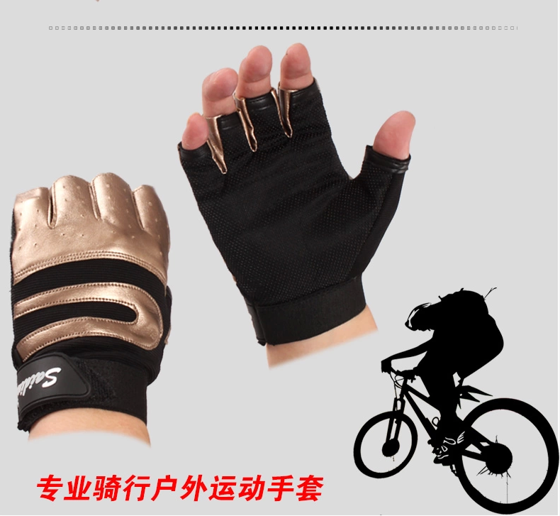 Men's leather gloves leather half finger movement drive anti-skid Fingerless leisure fitness Cycling Gloves davs leopard pattern outdoor sports anti skid breathable half finger gloves w iron protection plate