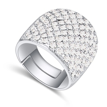 Wedding Rings For Men and Women Austrian Crystal Rings Rock Punk Jewelry 5 Colors