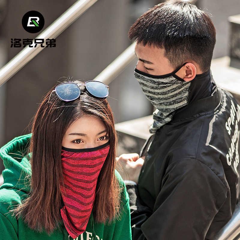 ROCKBROS Es Sutra Menyerahkan Topeng Penutup Bersepeda Anti Sinar UV Keren Sport Menjalankan Masker Bernapas Sepeda Masker Hiking Bandana Syal