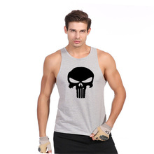 Skull GYMS Tank Top Mens Bodybuilding Stringer Cotton Vest Fitness Singlet Sleeveless Crossfit Shirt Muscle Workout Clothes