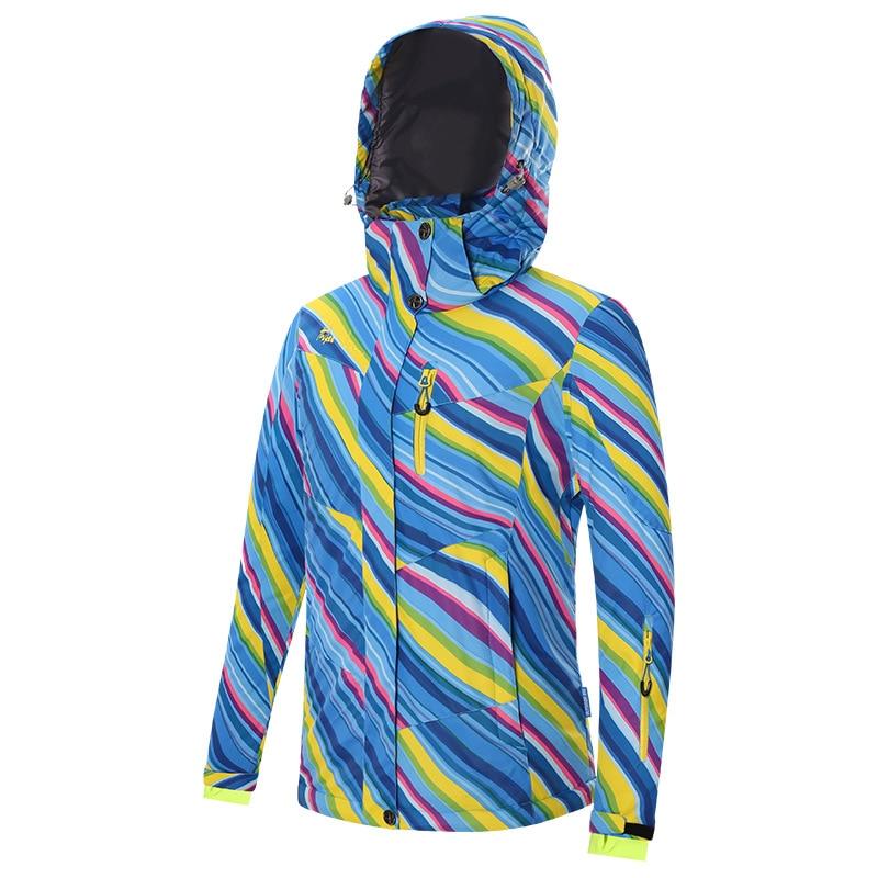 Winter outdoor snowboard mountain skiing suit for women Waterproof keep warm climbing ski Breathable women's winter jacket