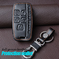 Leather Keychain Case For Land Rover Range Rover Sport A9 Discovery 2 3 4 Discovery Sport Evoque Freelander 2 Leather Key Holder