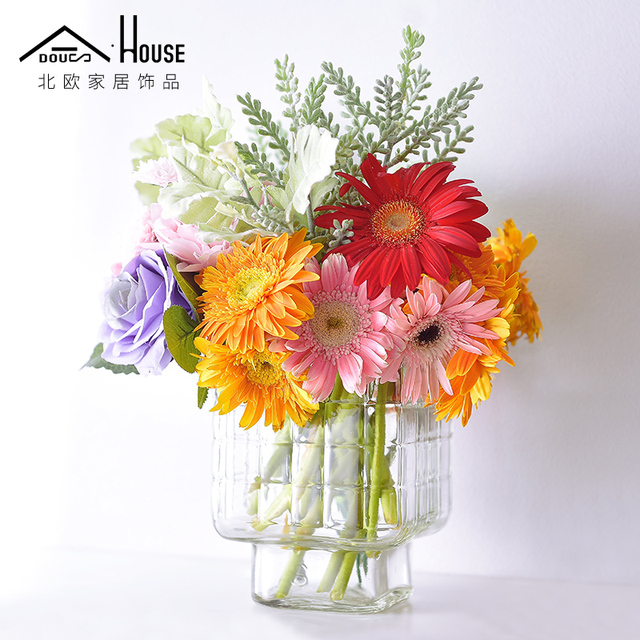 225 & US $15.5  AS Nordic simple small fresh transparent glass vase flower flower hydroponic creative Home Furnishing pastoral living room decor-in Vases ...