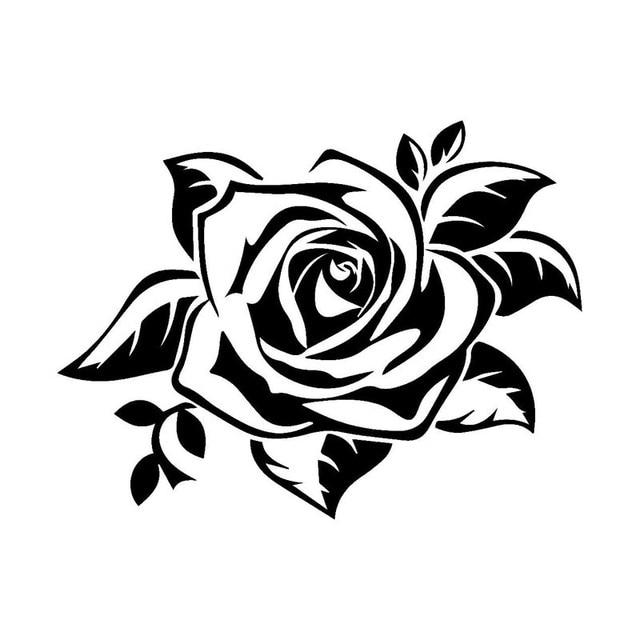 1pcs 17 13cm Body Car Sticker Anime Charm Rose Flowers Car