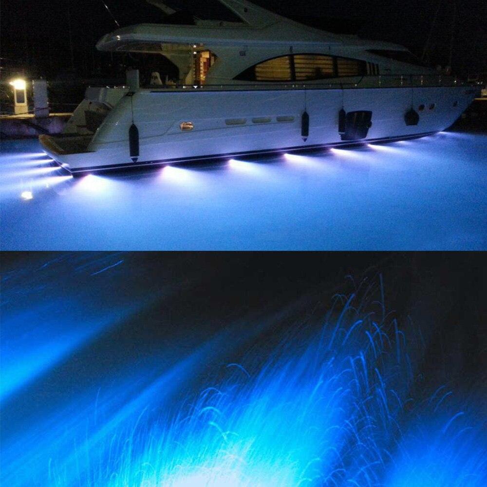 fishing Swimming Diving Amarine Blue Cree LED Boat Drain Plug Underwater Light