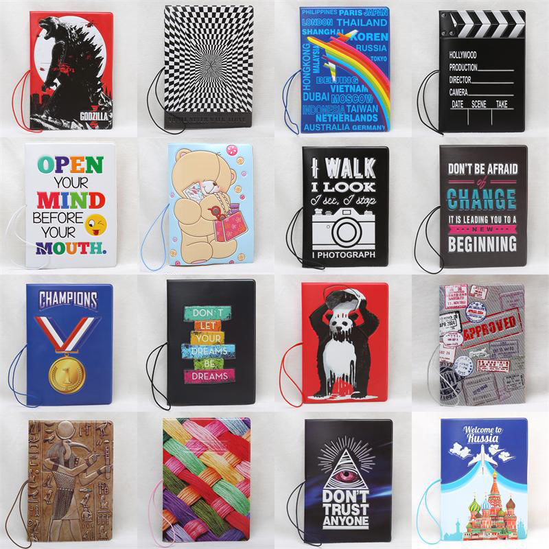 2018 New 28 Different Style Passport Covers For Women And Men ,pvc Leather ID Card Bag Passport Holder 14*10cm Passport Wallets