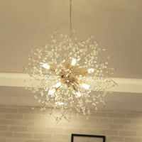 LukLoy Dandelion Crystal Chandelier Loft Bedroom Firework Hanging Lamp Hanglamp Modern Pendant Ceiling Lights Lighting Fixture