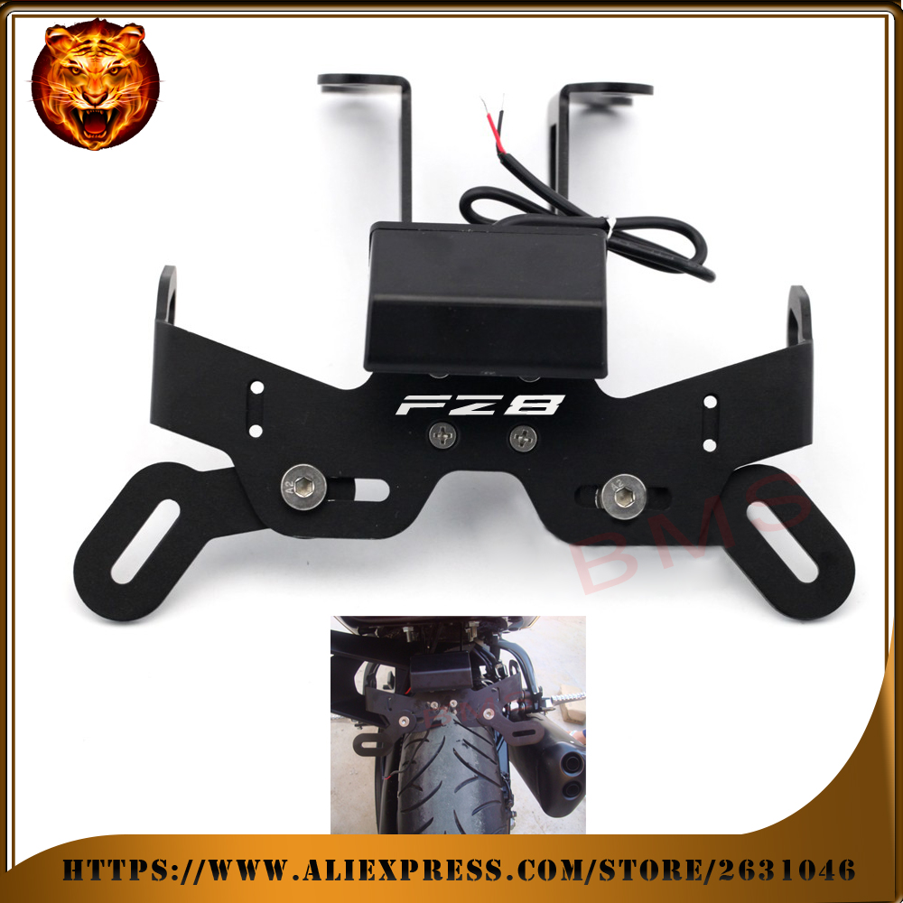 цена на For YAMAHA FZ8 fz 2013 Motorcycle Tail Tidy Fender Eliminator Registration License Plate Holder bracket LED Light free shipping