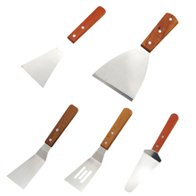 купить Stainless Steel Steak Shovel With Wood Handle For Grill Griddle Salad Scraper Chopper Pizza BBQ Baking Kitchen Tools @ по цене 143.21 рублей