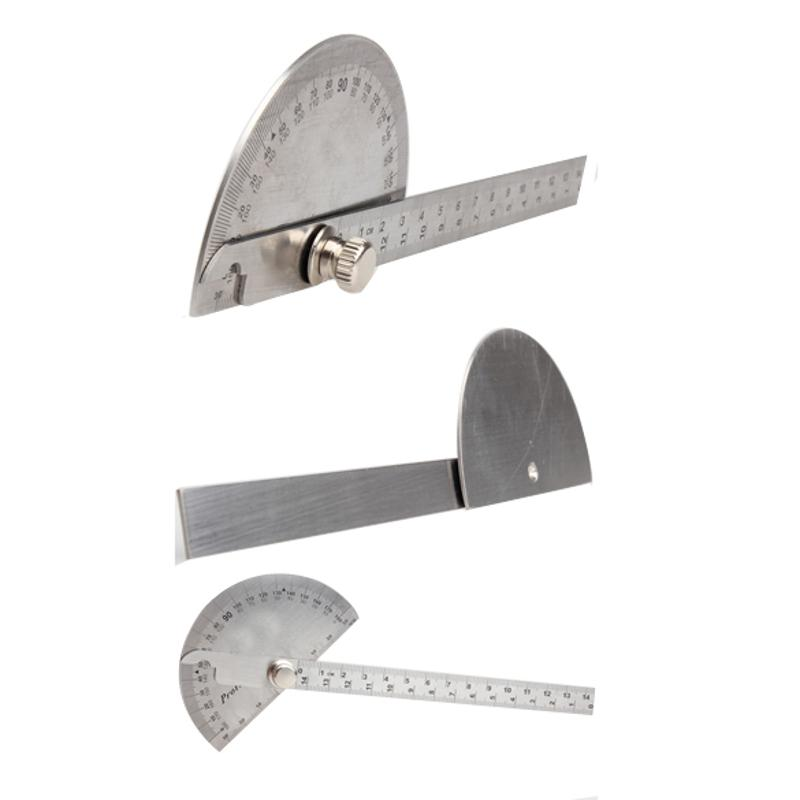 Protractor Round Head Angle Square Craftsman Rule Ruler Machinist 90 x 150mm Stainless Steel General Tool
