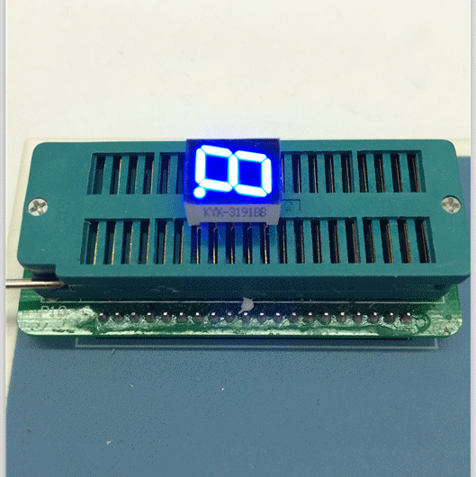 Free Ship 100pc Common Cathode 0.39inch Digital Tube 1 Bit Digital Tube Display Blue Digital Led Tube Factory Direct
