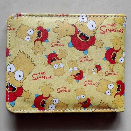 Anime The Simpsons Homer J Simpson Logo wallets Purse Multi-Color 12cm Leather